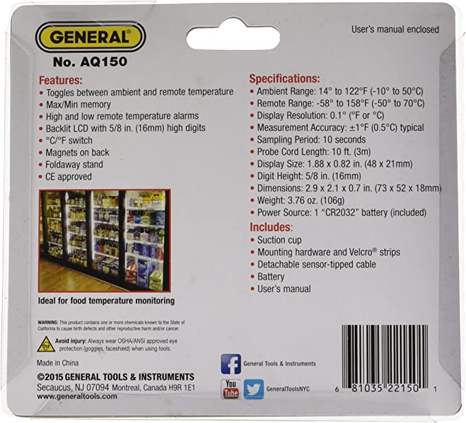 General Tools AQ150 product image 2